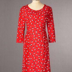 EUC Boden Pimlico red dress